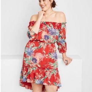 Ava & Viv Floral Off the Shoulder Dress | Size 1X